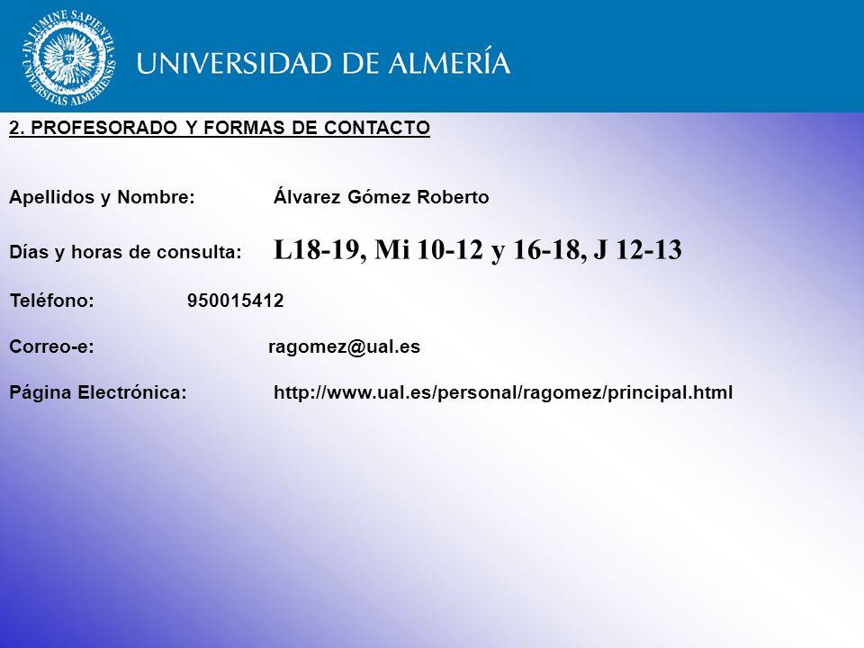 2. PROFESORADO Y FORMAS DE CONTACTO