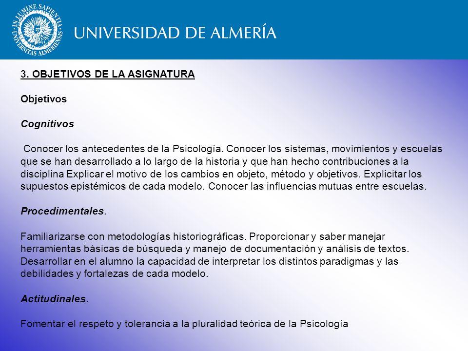 3. OBJETIVOS DE LA ASIGNATURA