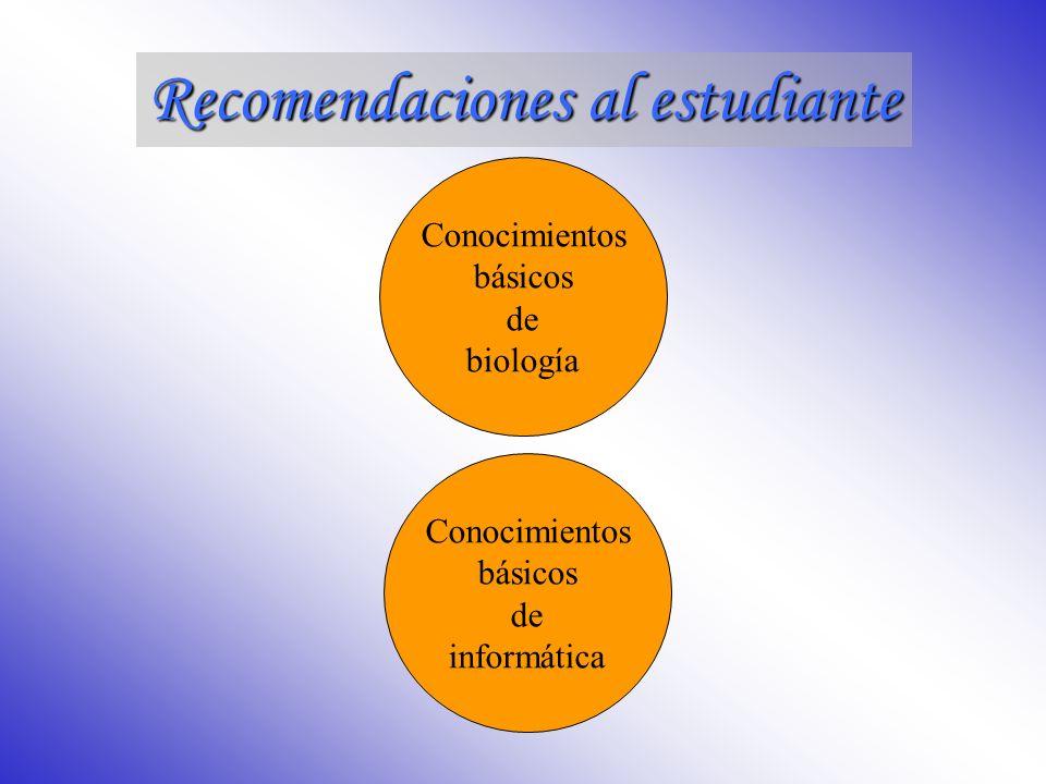 Recomendaciones al estudiante