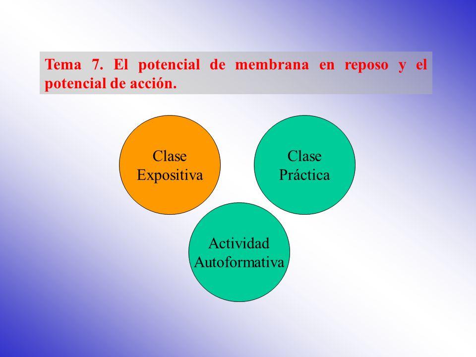 Tema 7. El potencial de membrana en reposo y el potencial de acción.