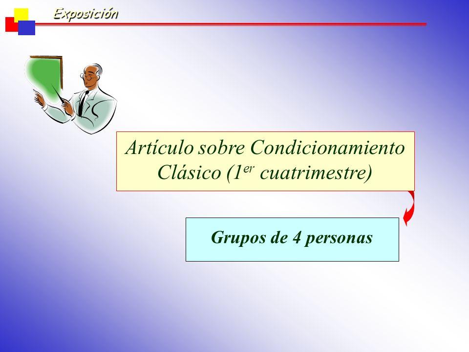 Artículo sobre Condicionamiento Clásico (1er cuatrimestre)