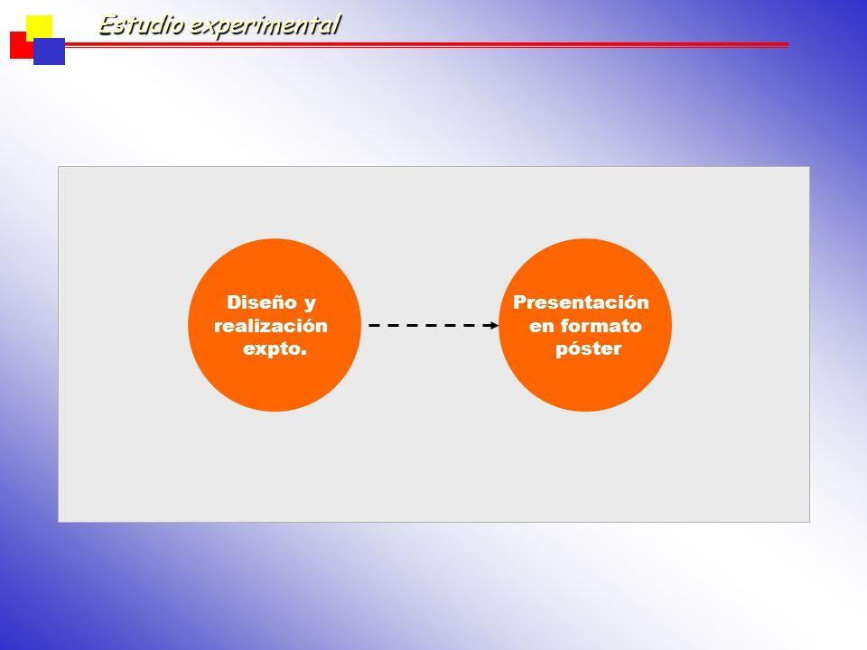 Estudio experimental Diseño y realización expto. Presentación