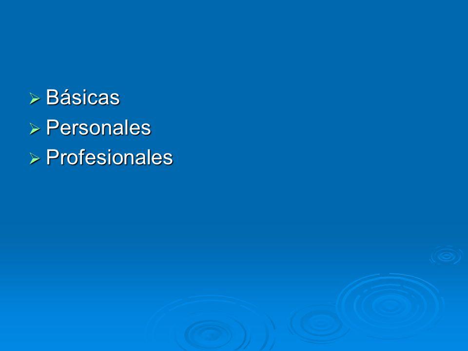 Básicas Personales Profesionales