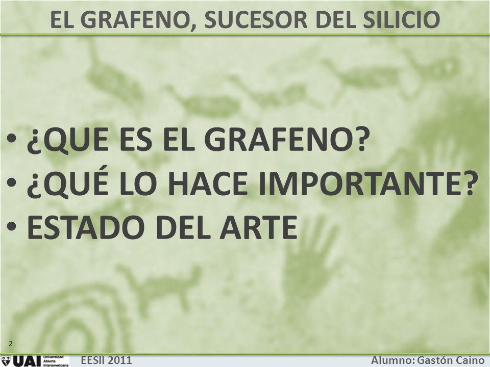 EL GRAFENO, SUCESOR DEL SILICIO