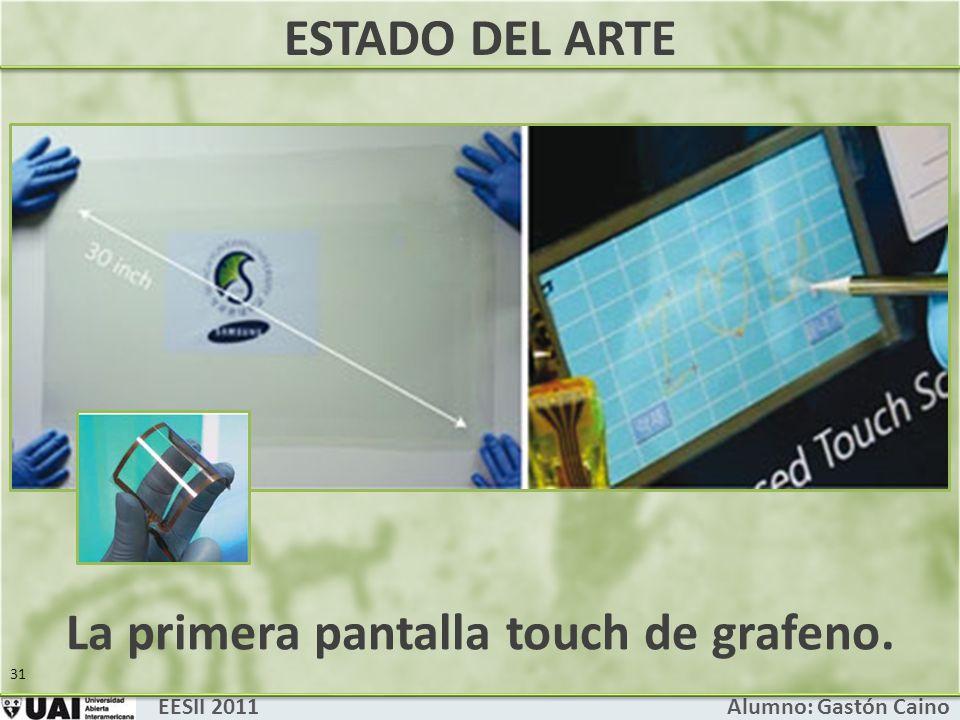 La primera pantalla touch de grafeno.