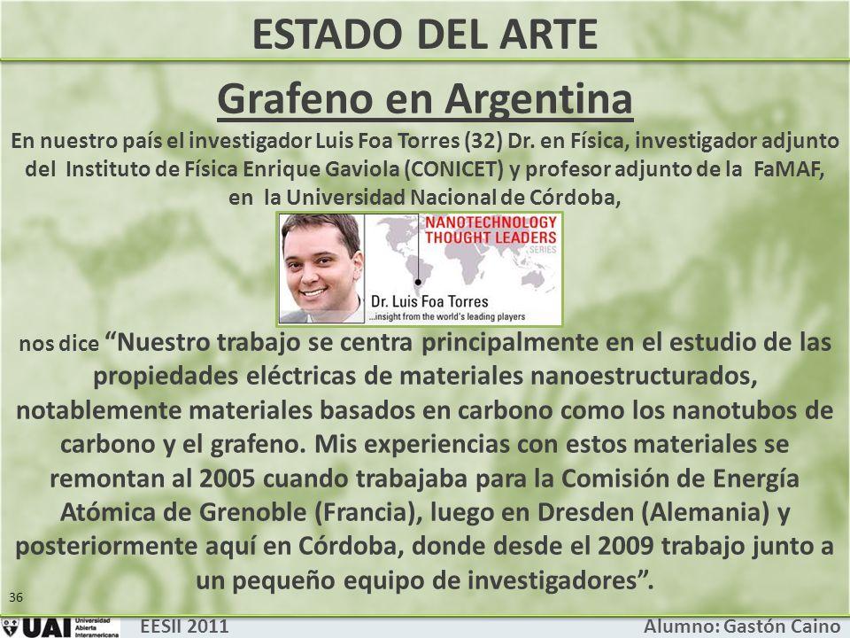 ESTADO DEL ARTE Grafeno en Argentina