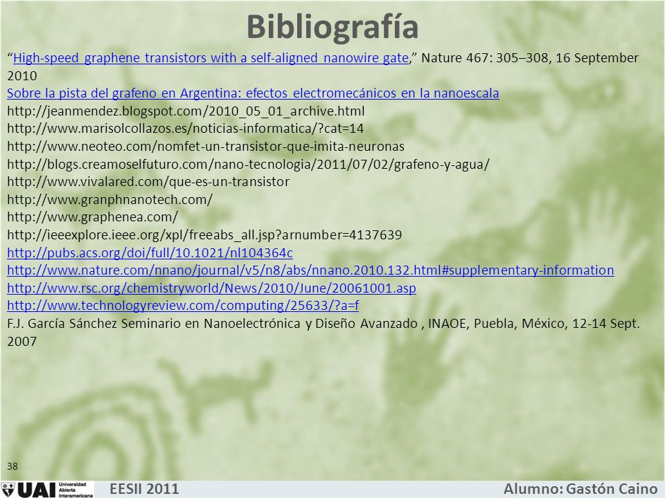 Bibliografía EESII 2011 Alumno: Gastón Caino