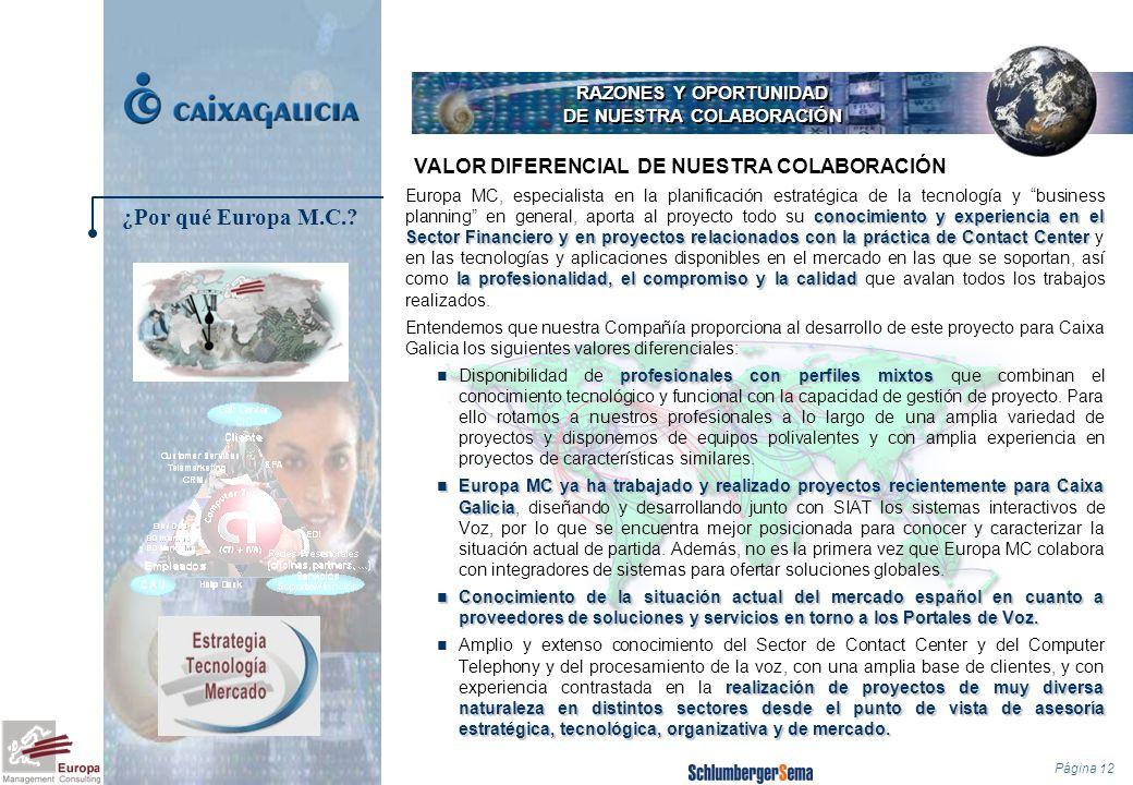 RAZONES Y OPORTUNIDAD DE NUESTRA COLABORACIÓN