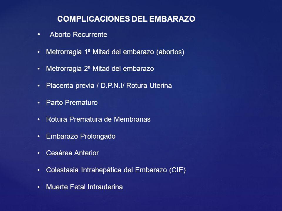 COMPLICACIONES DEL EMBARAZO