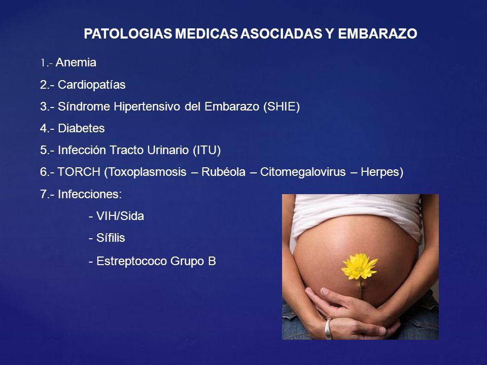PATOLOGIAS MEDICAS ASOCIADAS Y EMBARAZO