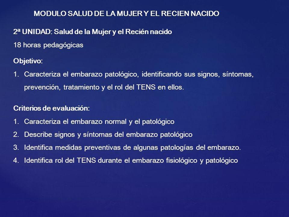 MODULO SALUD DE LA MUJER Y EL RECIEN NACIDO