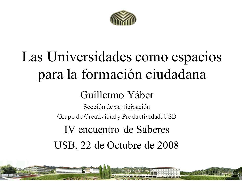 Las Universidades como espacios para la formación ciudadana