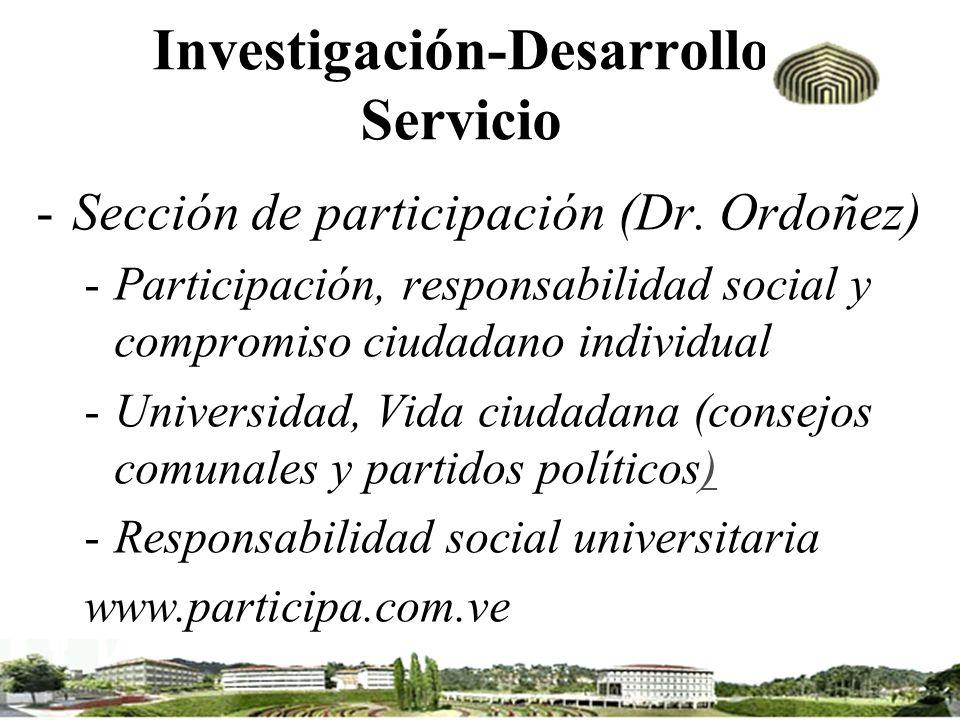 Investigación-Desarrollo Servicio