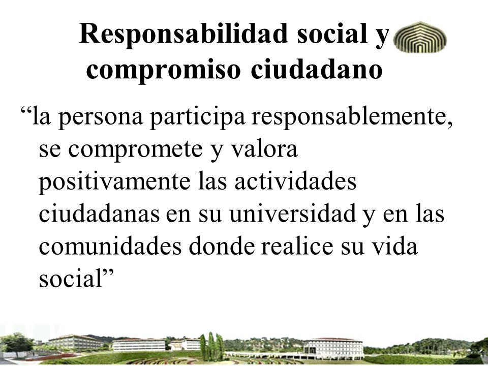 Responsabilidad social y compromiso ciudadano