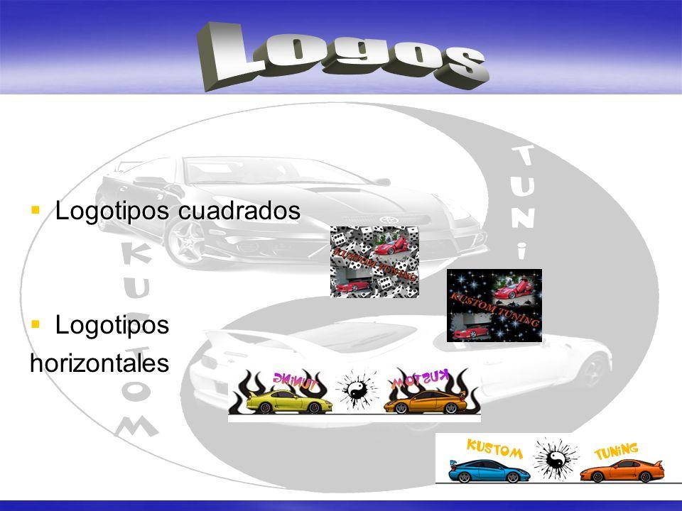 Logos Logotipos cuadrados Logotipos horizontales