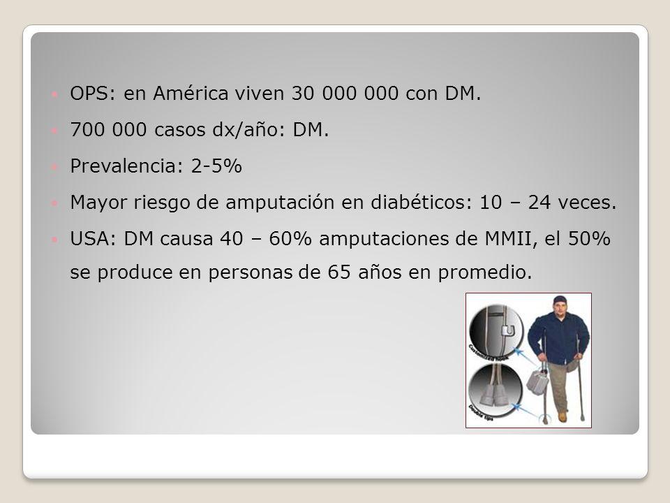 OPS: en América viven 30 000 000 con DM.