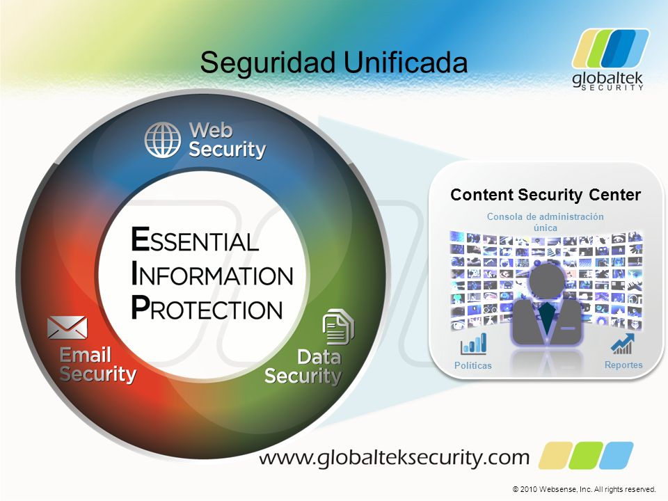 Content Security Center Consola de administración única