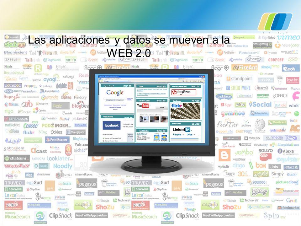 Las aplicaciones y datos se mueven a la WEB 2.0