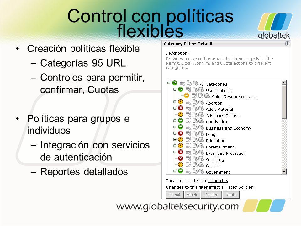 Control con políticas flexibles