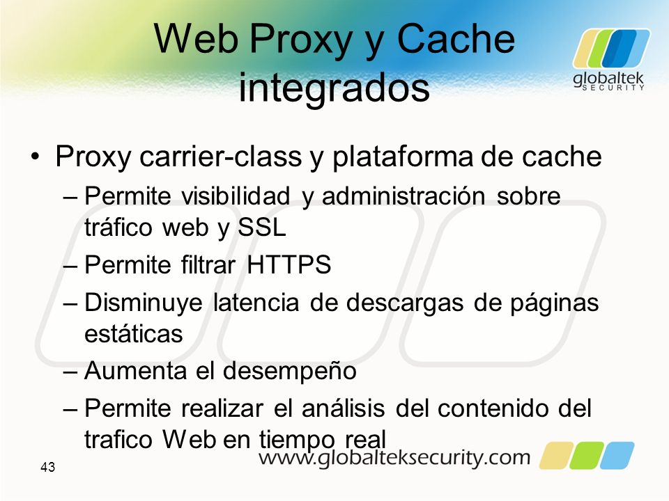 Web Proxy y Cache integrados