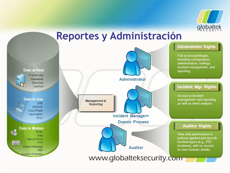 Reportes y Administración Management & Reporting