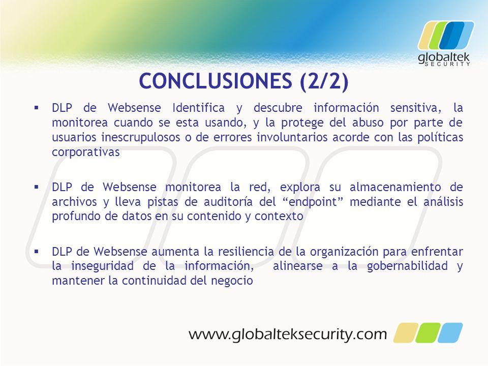 CONCLUSIONES (2/2)