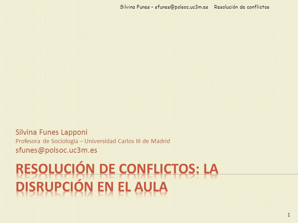 Resolución de conflictos: la disrupción en el aula