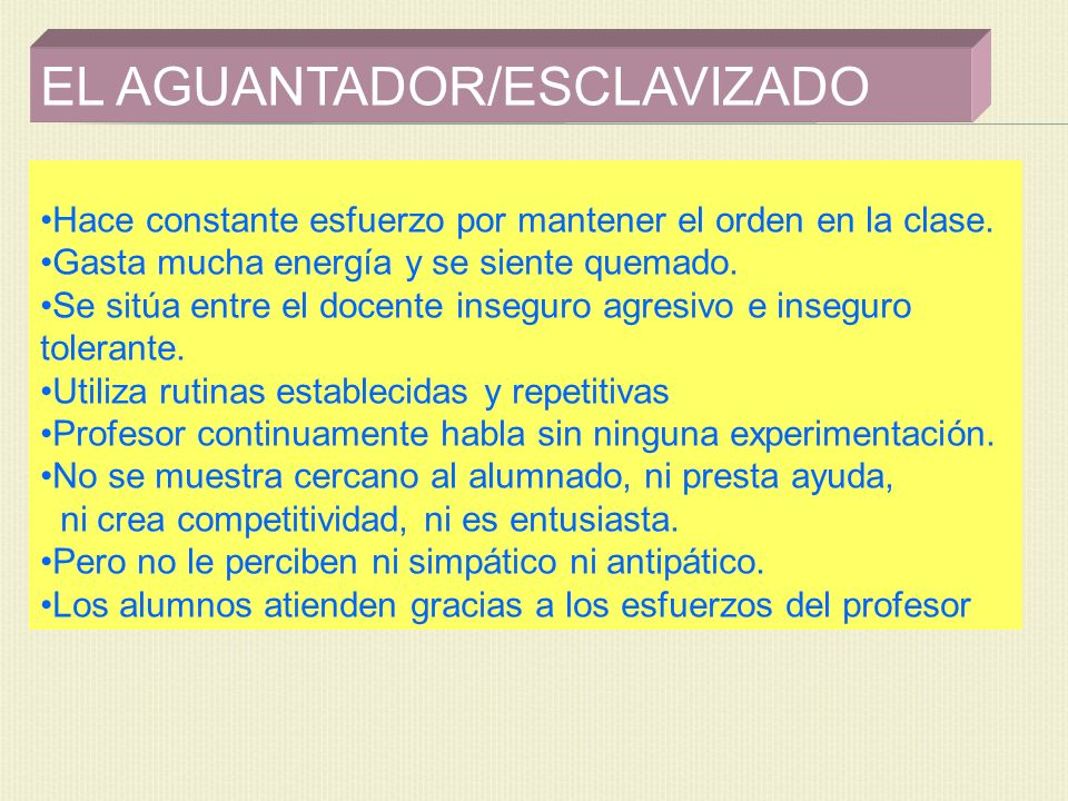 EL AGUANTADOR/ESCLAVIZADO
