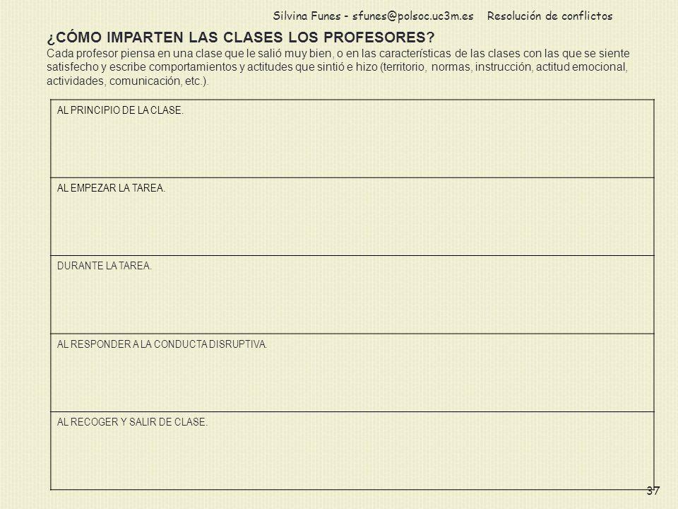 ¿CÓMO IMPARTEN LAS CLASES LOS PROFESORES