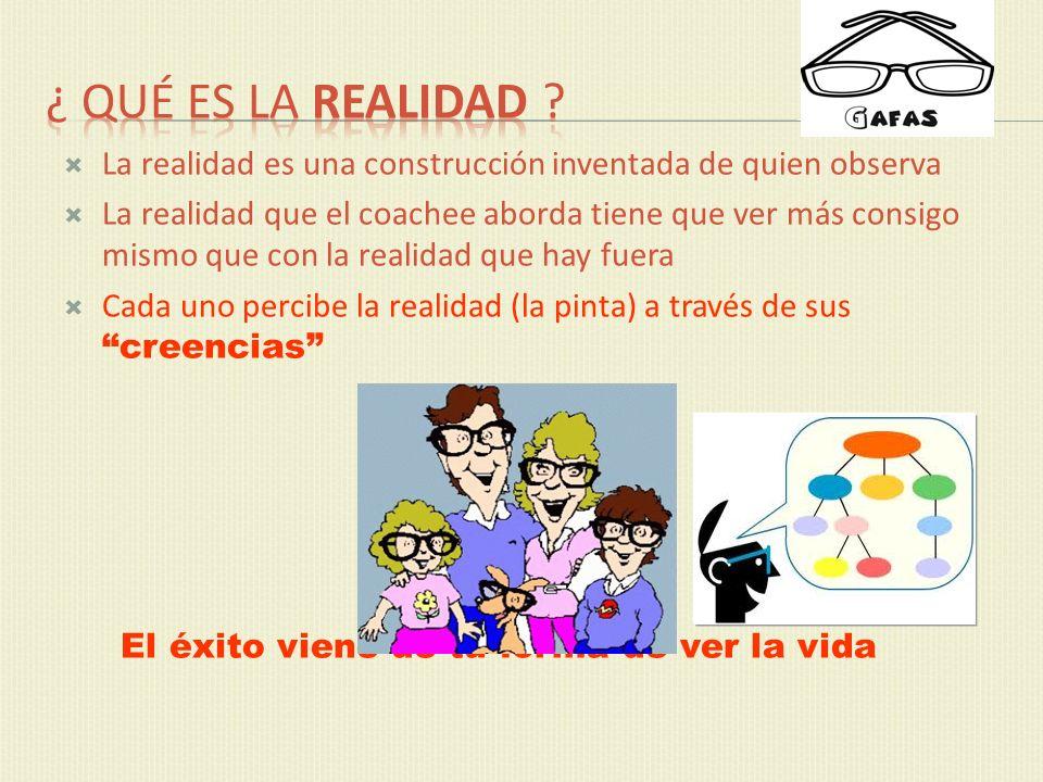 ¿ Qué es la realidad La realidad es una construcción inventada de quien observa.