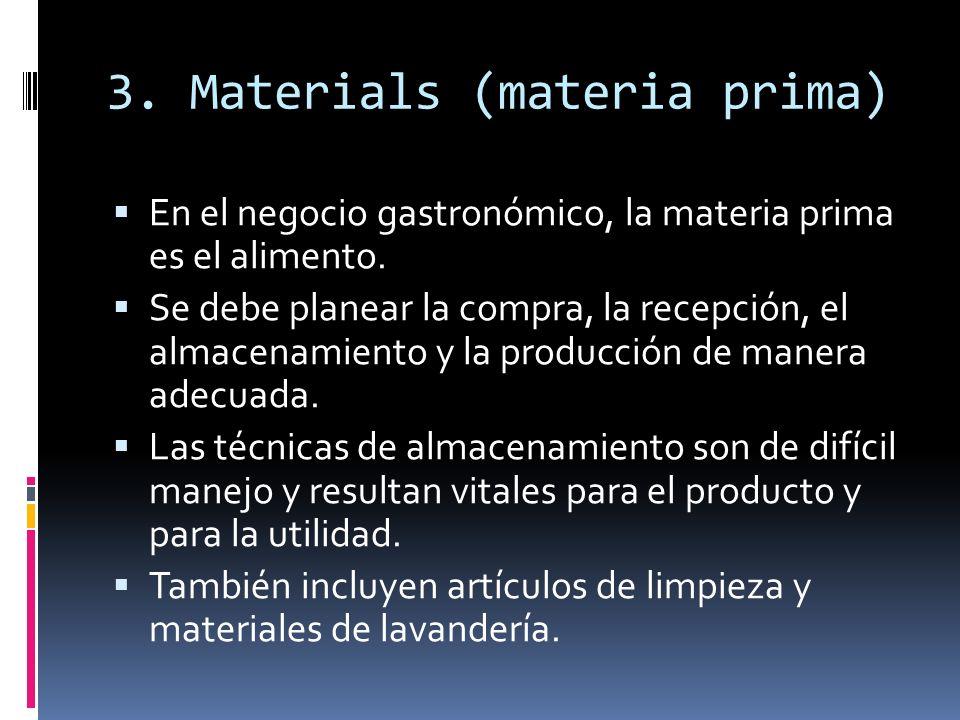 3. Materials (materia prima)