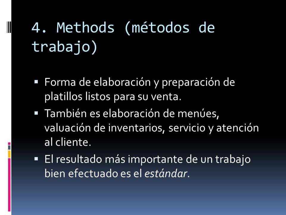 4. Methods (métodos de trabajo)