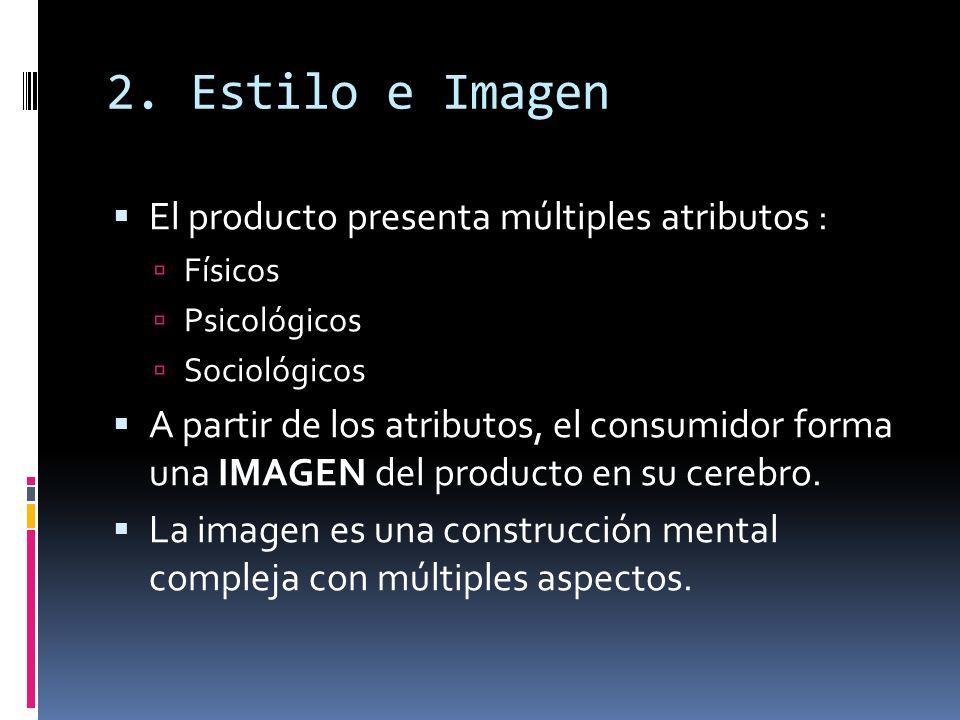 2. Estilo e Imagen El producto presenta múltiples atributos :