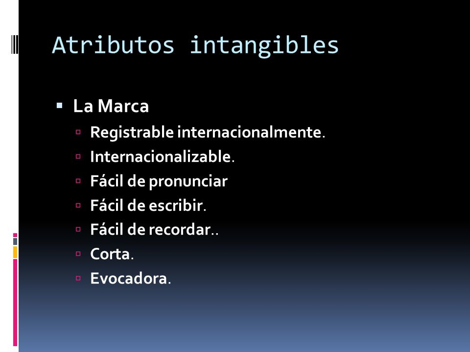 Atributos intangibles