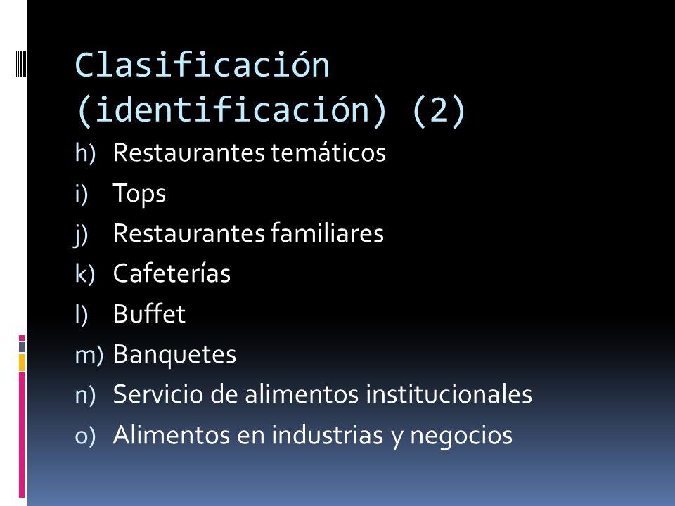 Clasificación (identificación) (2)