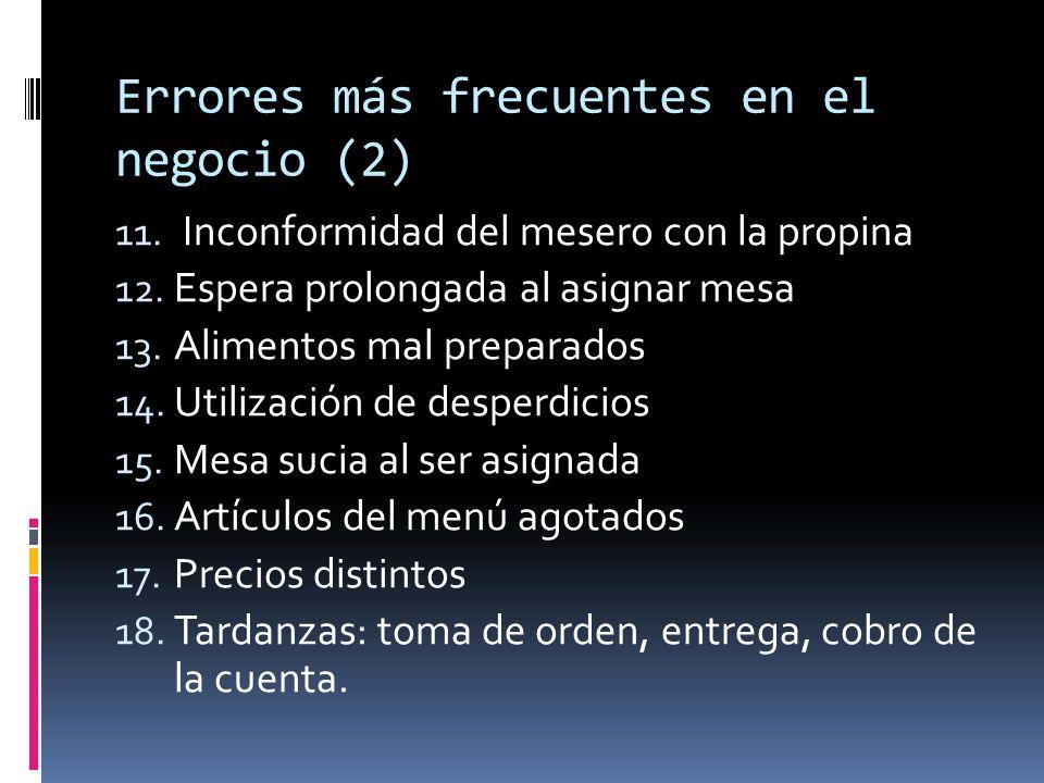 Errores más frecuentes en el negocio (2)