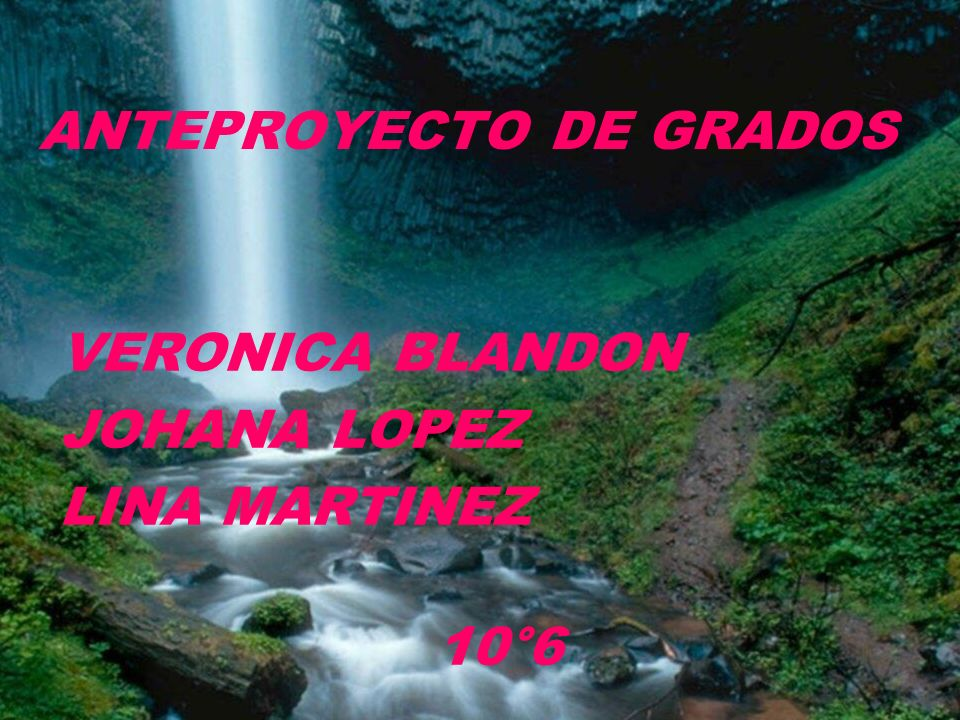 ANTEPROYECTO DE GRADOS