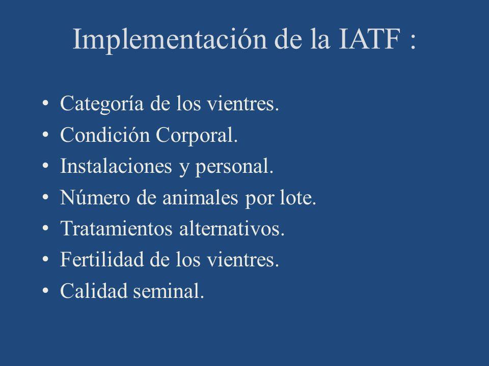 Implementación de la IATF :