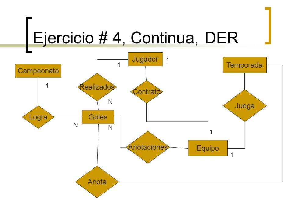 Ejercicio # 4, Continua, DER