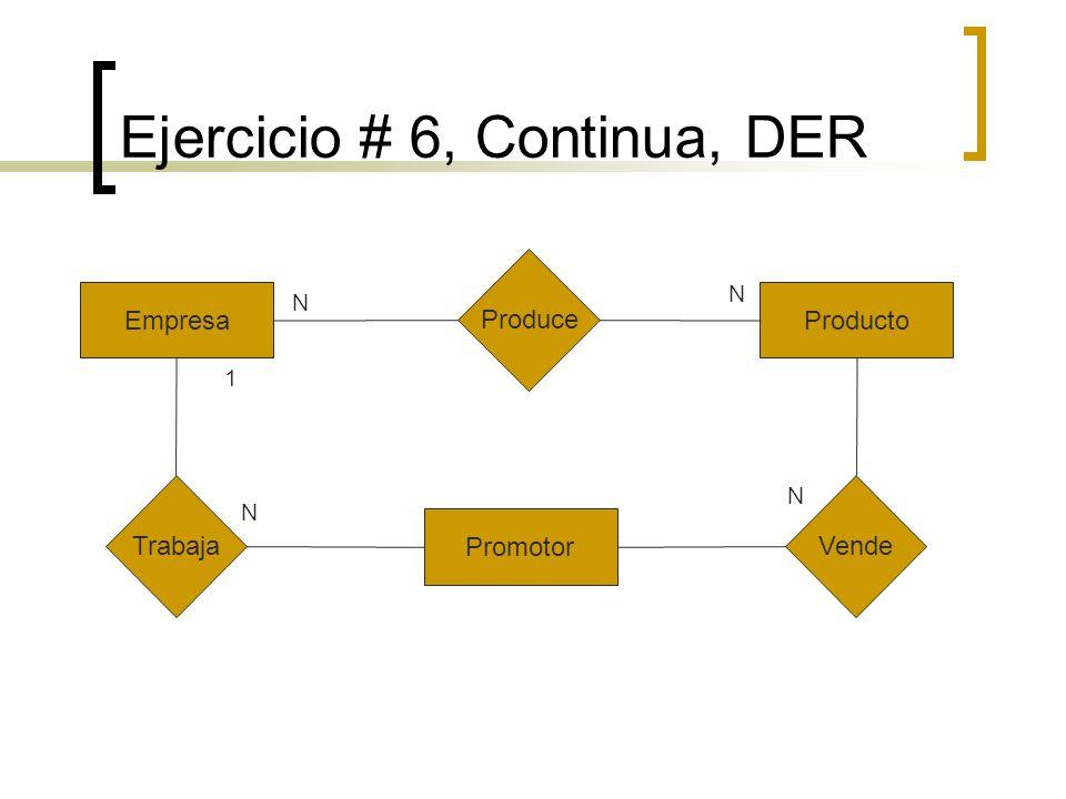 Ejercicio # 6, Continua, DER