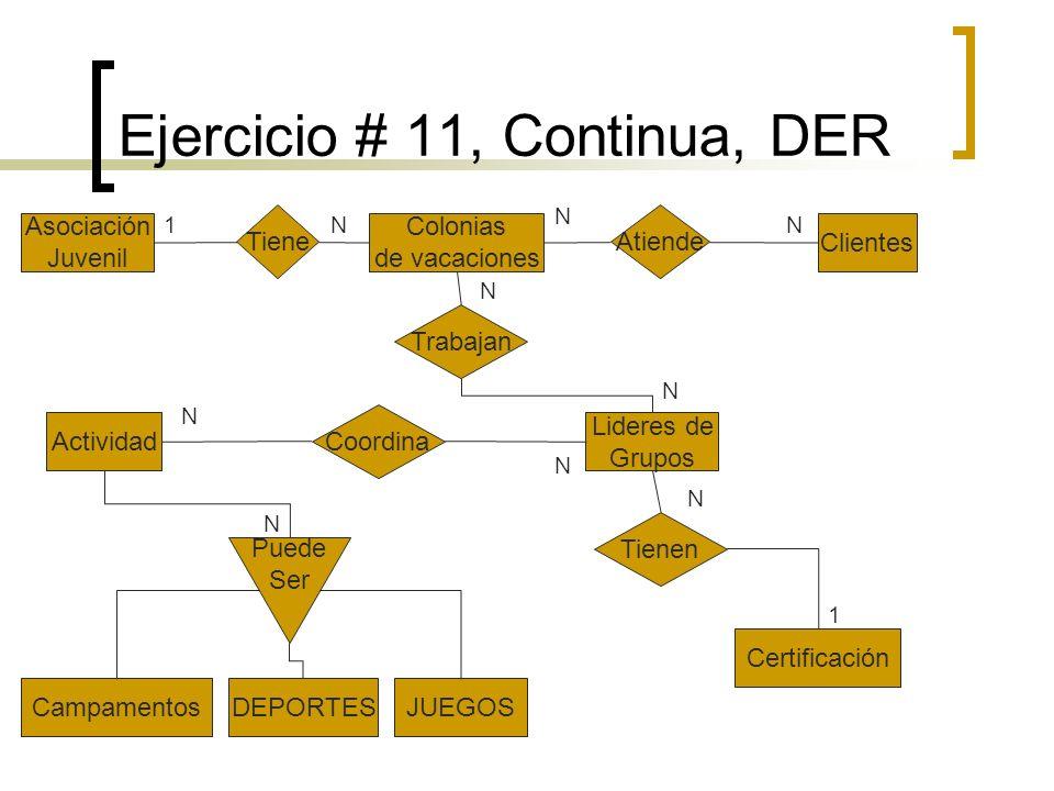 Ejercicio # 11, Continua, DER