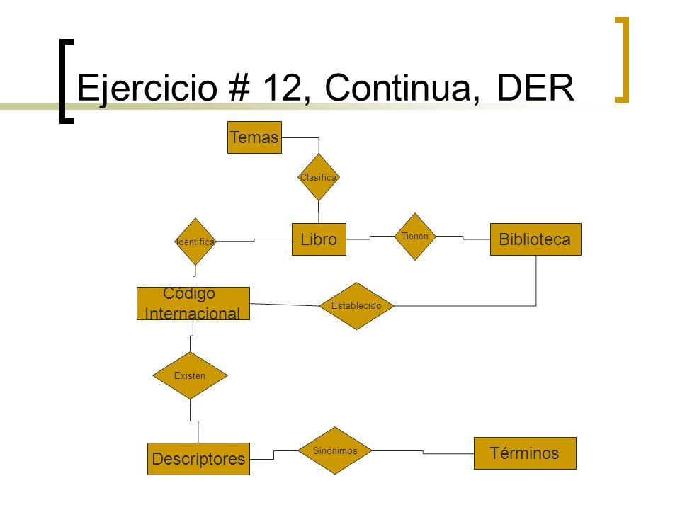 Ejercicio # 12, Continua, DER