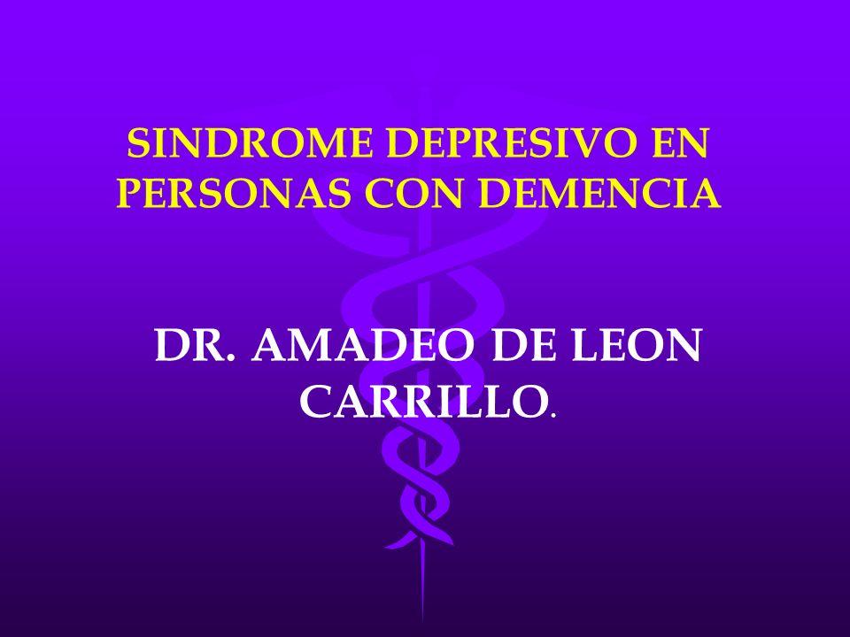 SINDROME DEPRESIVO EN PERSONAS CON DEMENCIA