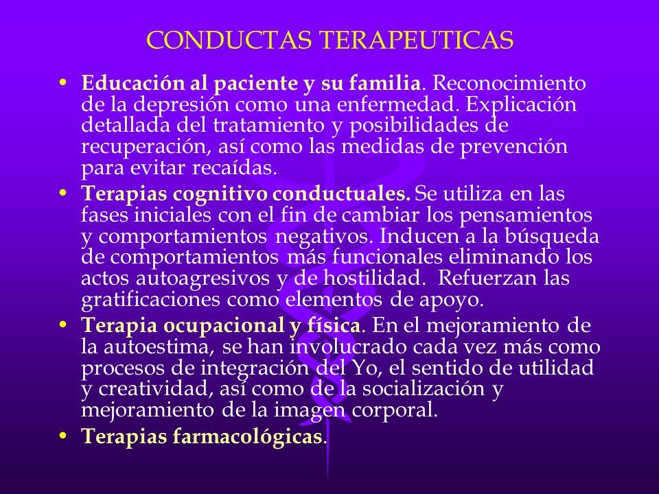 CONDUCTAS TERAPEUTICAS
