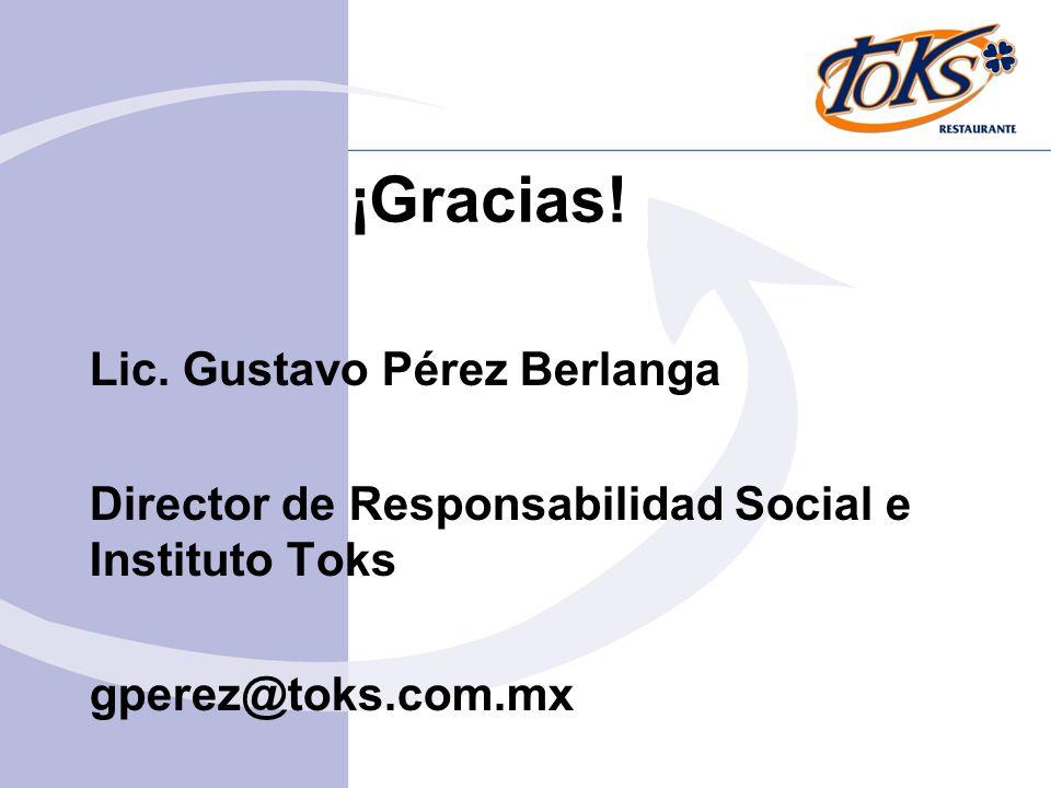 ¡Gracias! Lic. Gustavo Pérez Berlanga