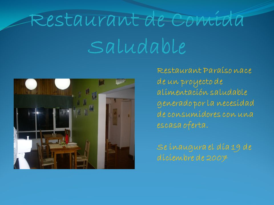 Restaurant de Comida Saludable