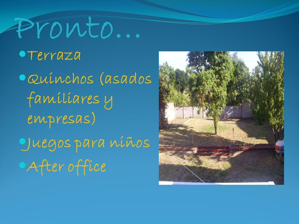 Pronto… Terraza Quinchos (asados familiares y empresas)