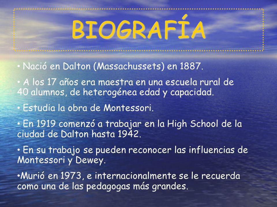 BIOGRAFÍA Nació en Dalton (Massachussets) en 1887.