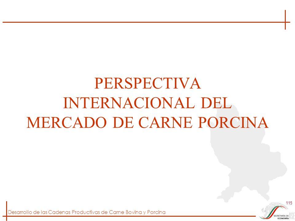 PERSPECTIVA INTERNACIONAL DEL MERCADO DE CARNE PORCINA