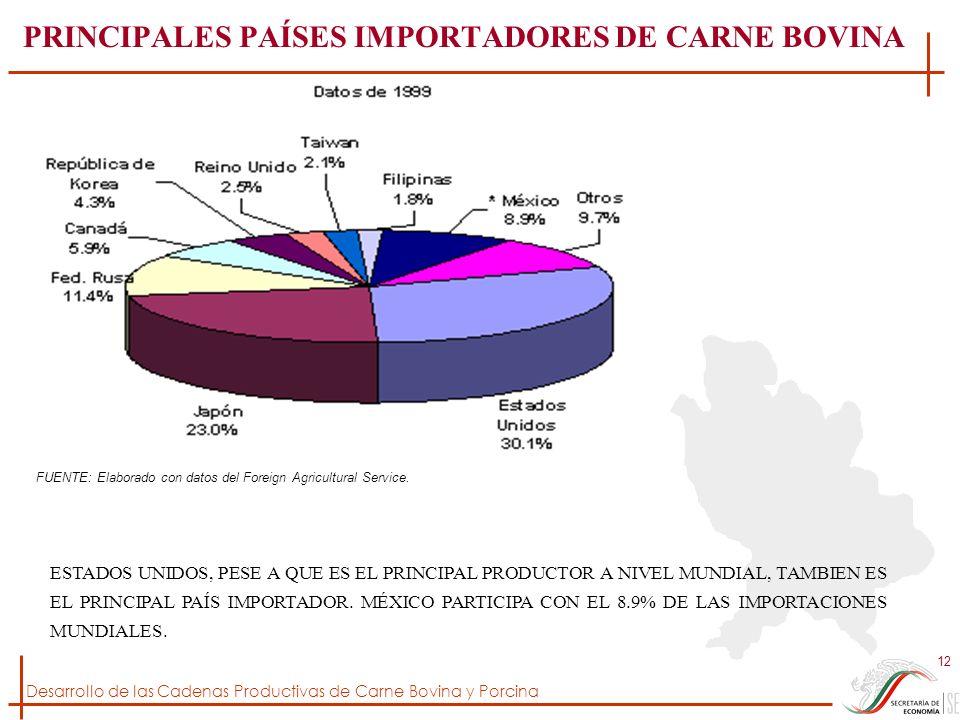 PRINCIPALES PAÍSES IMPORTADORES DE CARNE BOVINA